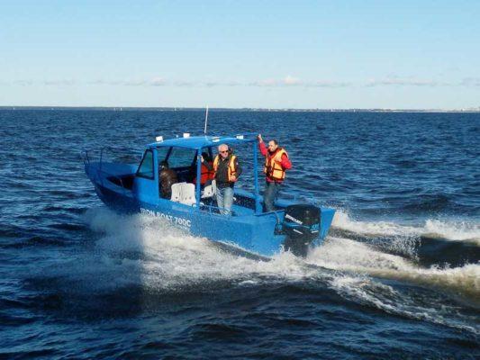 Глиссирование лодки Iron Boat 700
