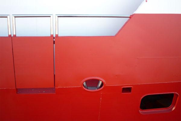 Фрагмент стального корпуса яхты