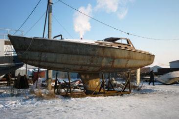 Готовый стальной корпус парусной яхты
