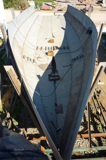 Строительство корпуса яхты из стали