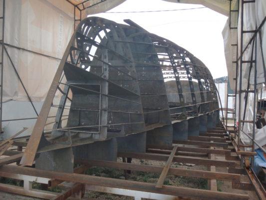Строительство парусной яхты Tobago 57