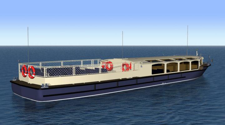 3D модель экскурсионного пассажирского судна проекта 82880