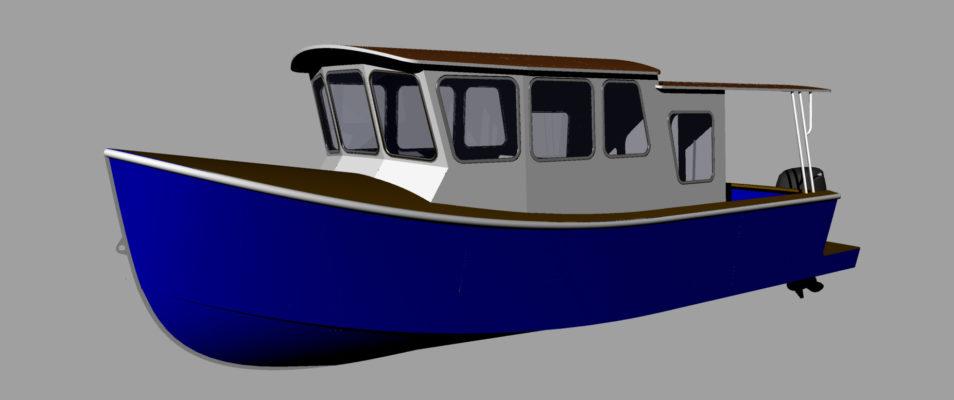 3D модель катера Melody Bay 800