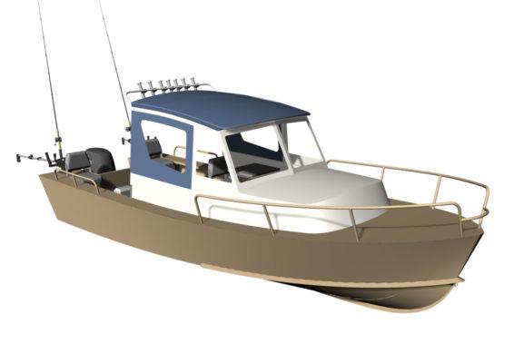 3D модель Iron Boat 700