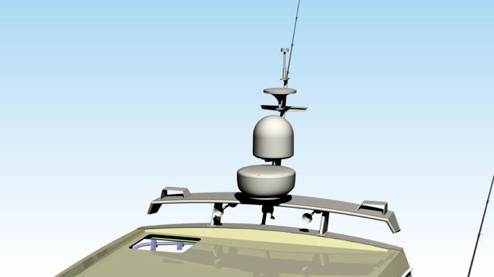 3D модель мачты катера