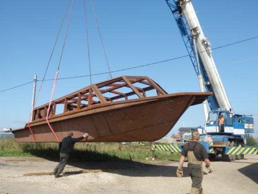 Готовый корпус экскурсионного судна проекта 82850