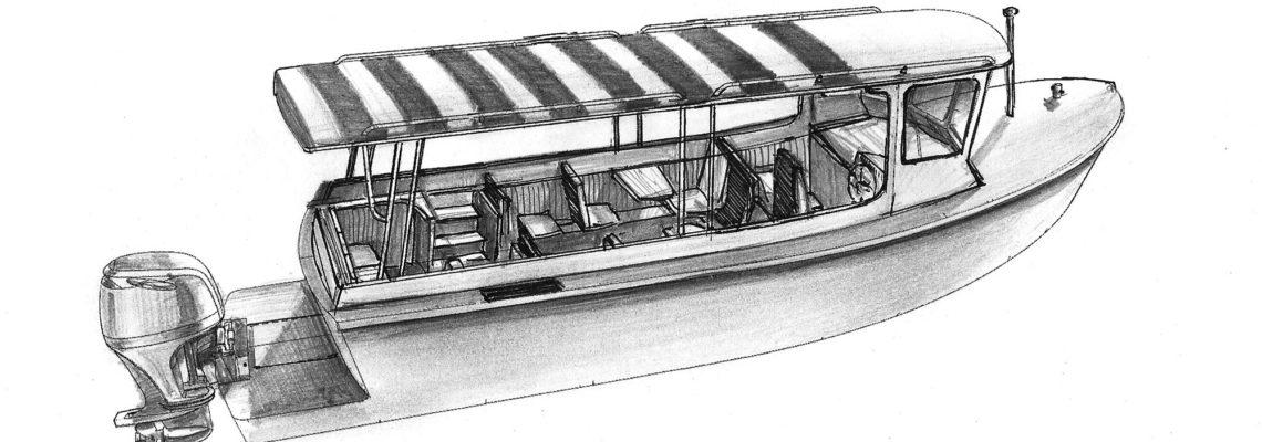 Эскиз пассажирского катера MB-800 Passenger