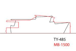 Наложение профилей корпусов Melody Bay 1500 и TY 485 Брюса Робертса