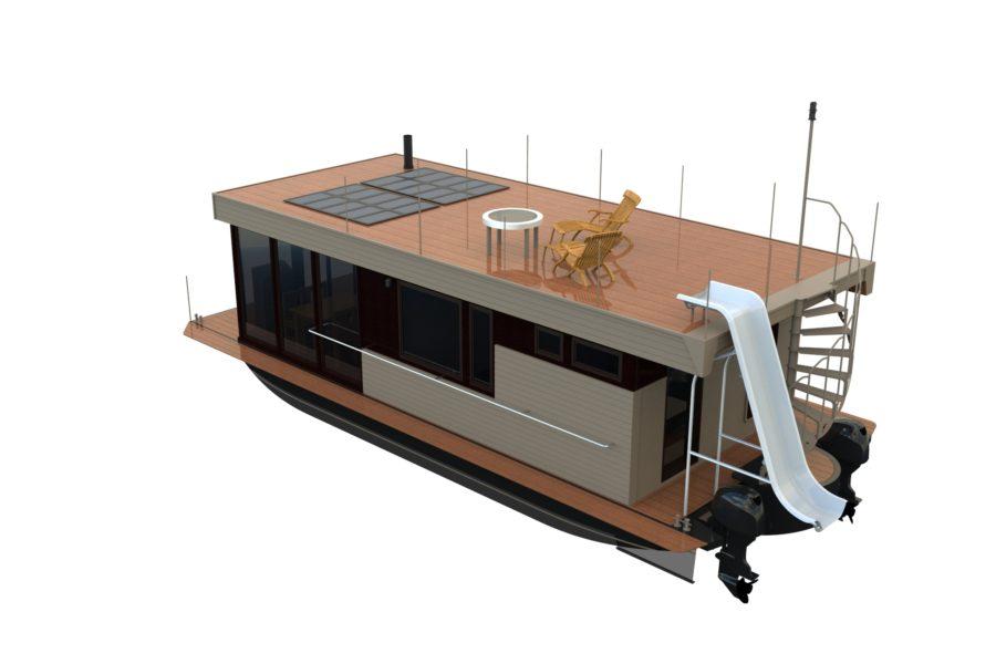 Рендер проекта дома на воде