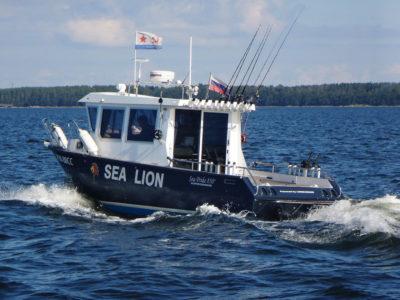 Катер Sea Pride 850 обладает очень просторным кокпитом и просторной рубкой