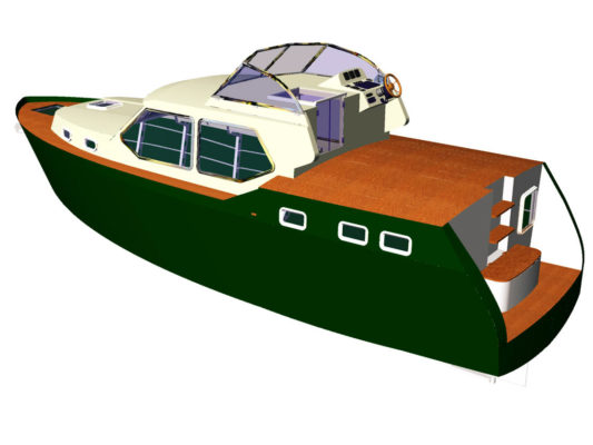 3D-модель моторной яхты Melody Bay 1000