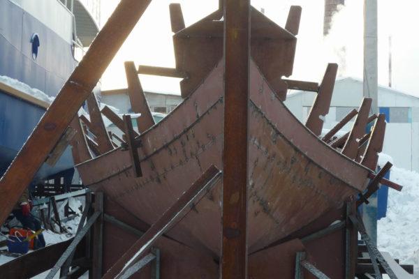Строительство стального драккара