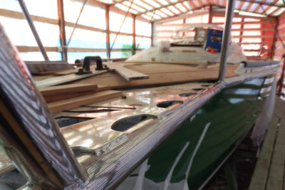 Бушпритная площадка индивидуального дизайна для яхты Milonga (Forna 37)