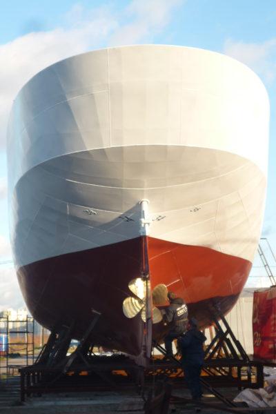 Строительство двухмачтовой парусной шхуны на судоверфи Амета