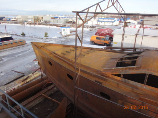 Строительство стальной яхты Voyager DS 440