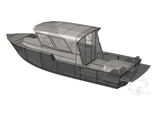 3д-модель Iron Boat 740