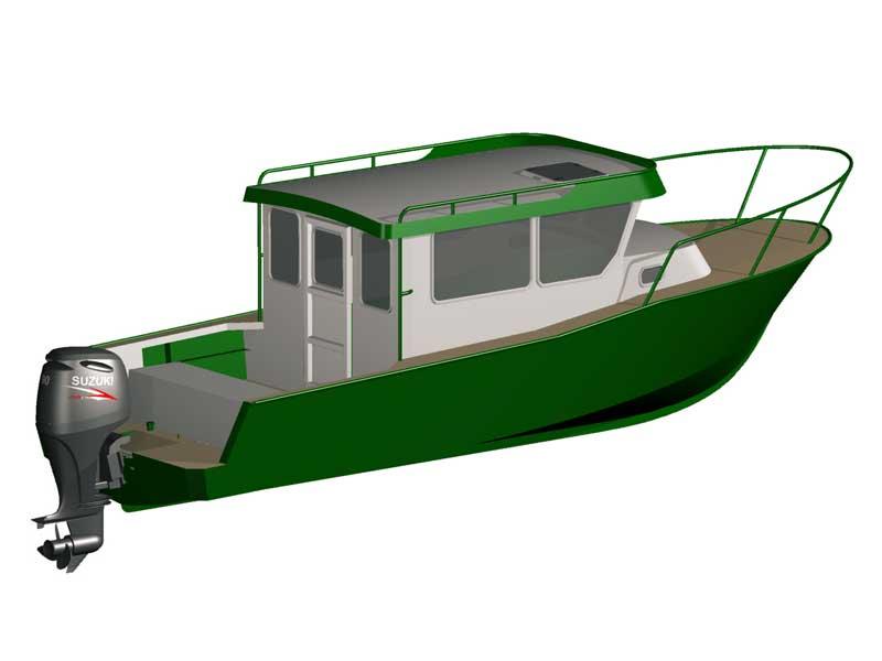 3d модель версии iron boat 740 с новым корпусом