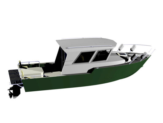 3д-модель Iron Boat 740 со встроенным в корпус мотором