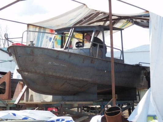 Готовый стальной корпус лодки Iron Boat 700