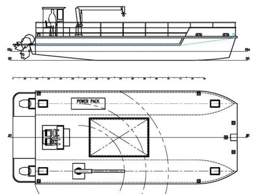 Принципиальная схема судна обеспечения рыбоводческого хозяйства