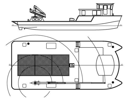 Принципиальная схема катамарана CatRUN 1900